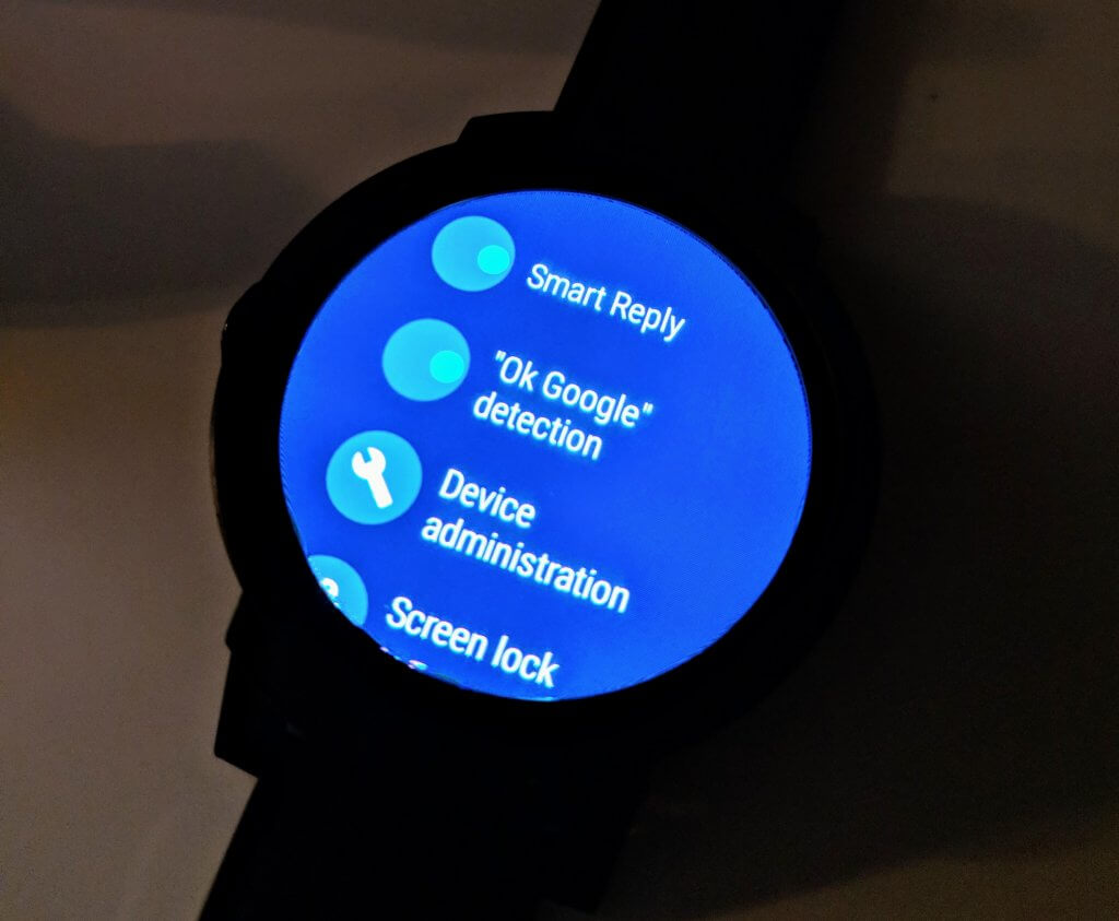 OK Google in Android Wear
