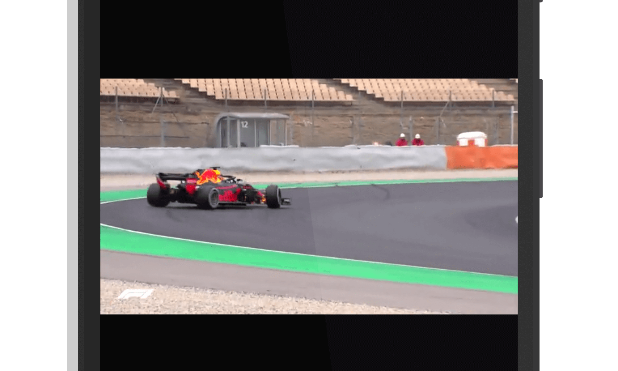 Video in The Formula 1 App
