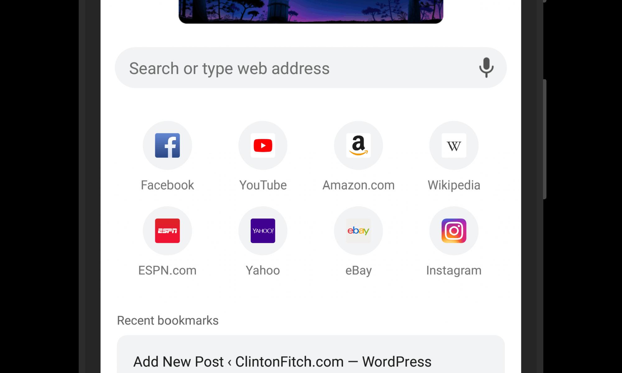 Chrome for Android Beta Modern UI