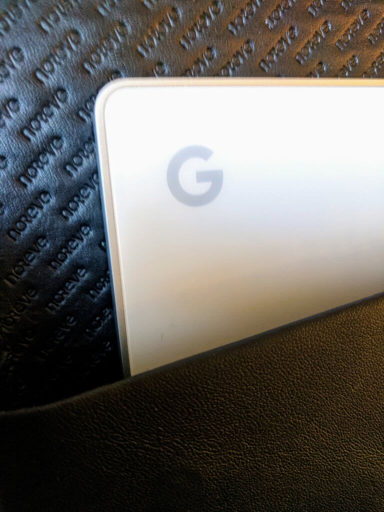 Close up of Pixelbook in the Norevel Laptop Sleeve