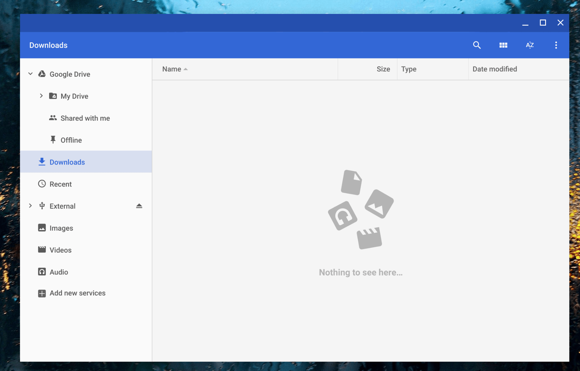 Files app in Chrome OS