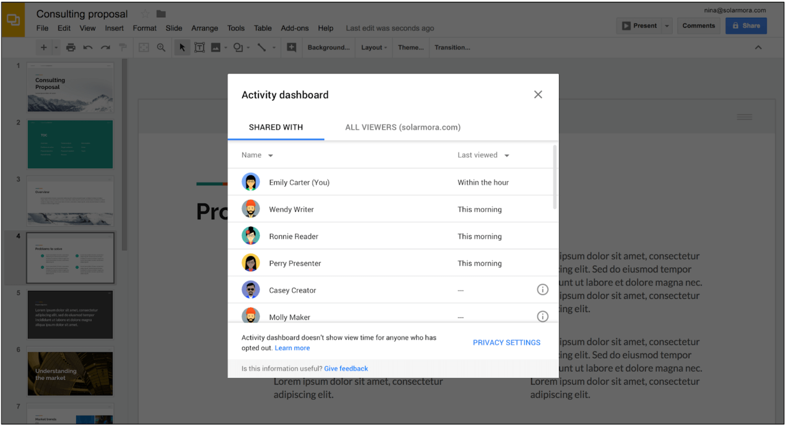 G Suite Activity Dashboard