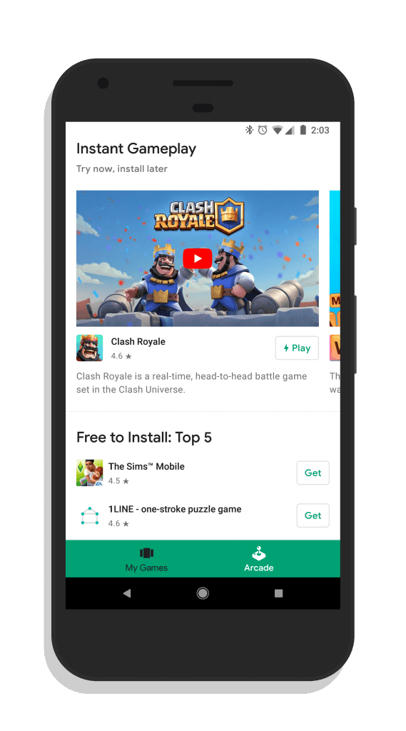 Instant Apps in Google Play Games