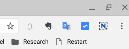 Restart Bookmark in Chrome OS