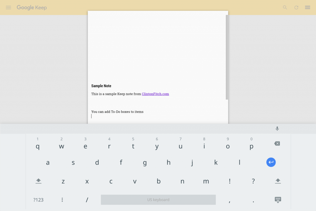 Virtual Keyboard in Chrome OS