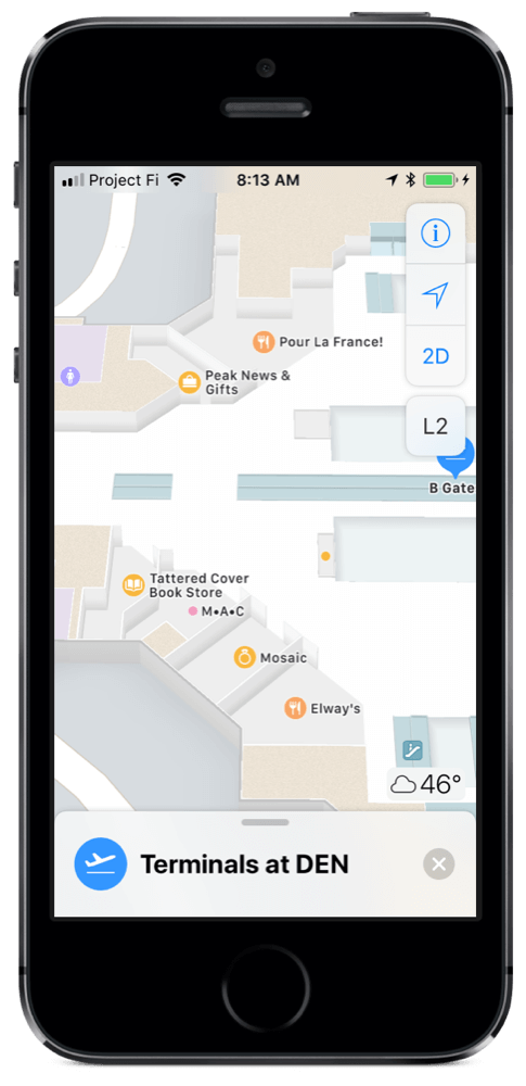 Apple Maps Indoor Airport Maps