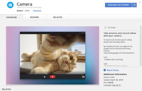 Chrome OS Camera Update