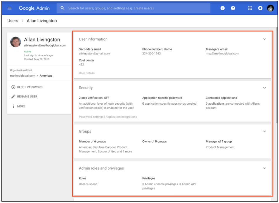 G Suite Improves User Management in Revamped Admin Tool