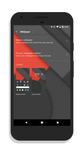 Wallpaper Settings in Microsoft Launcher