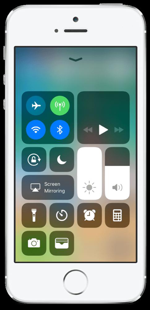 iOS 11.3 Control Center