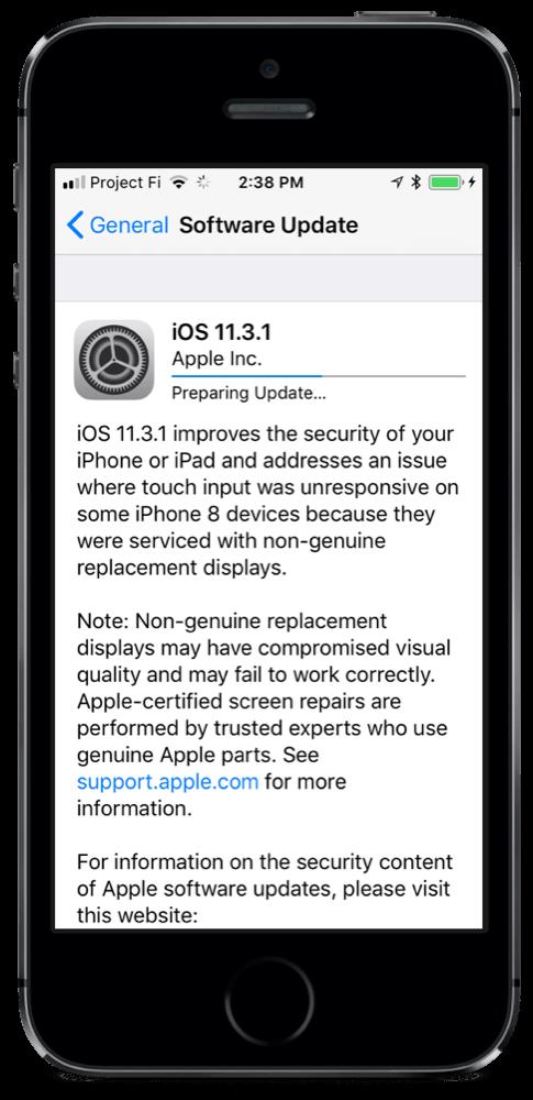 iOS 11.3.1 Update