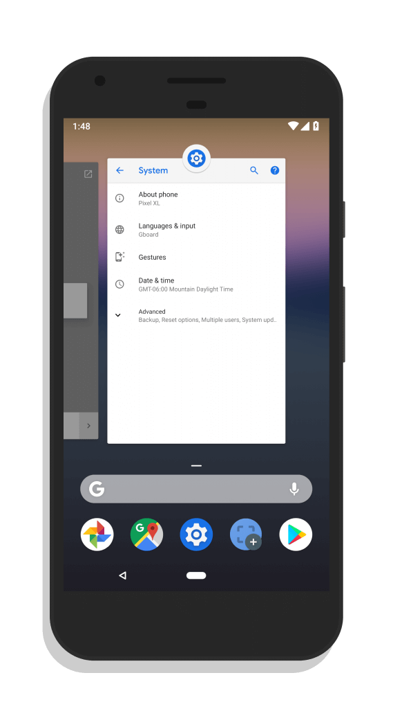 Android P System Navigation UI
