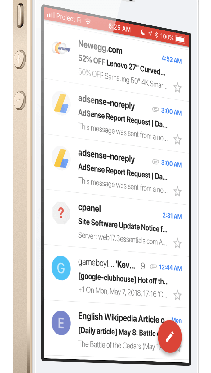 Gmail for iOS - May 2018