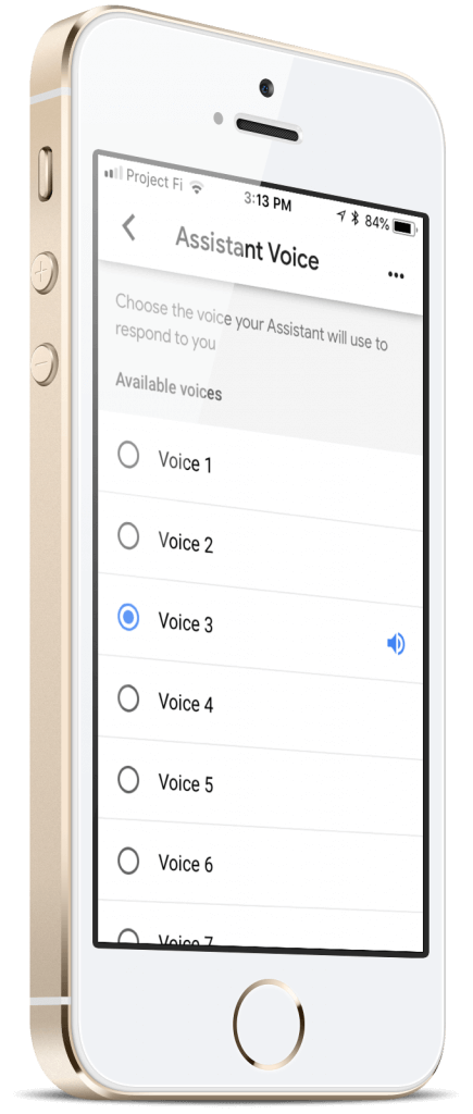 Google Assistant Voices for iOS