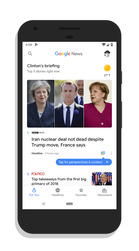 Google News for Android