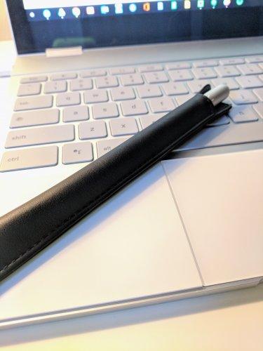 Noreve Apple Pencil Case on Pixelbook