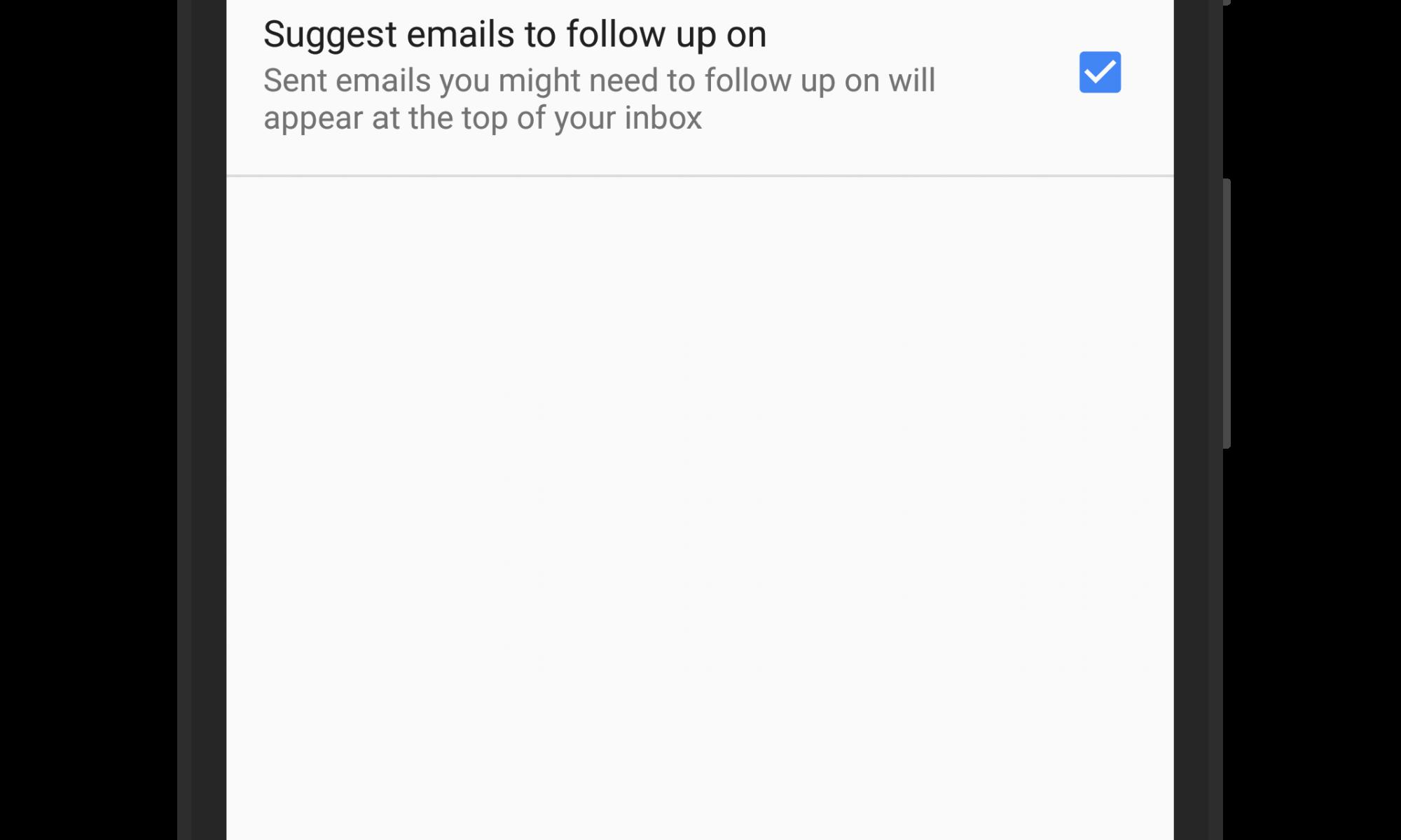 Nudge Settings in Gmail