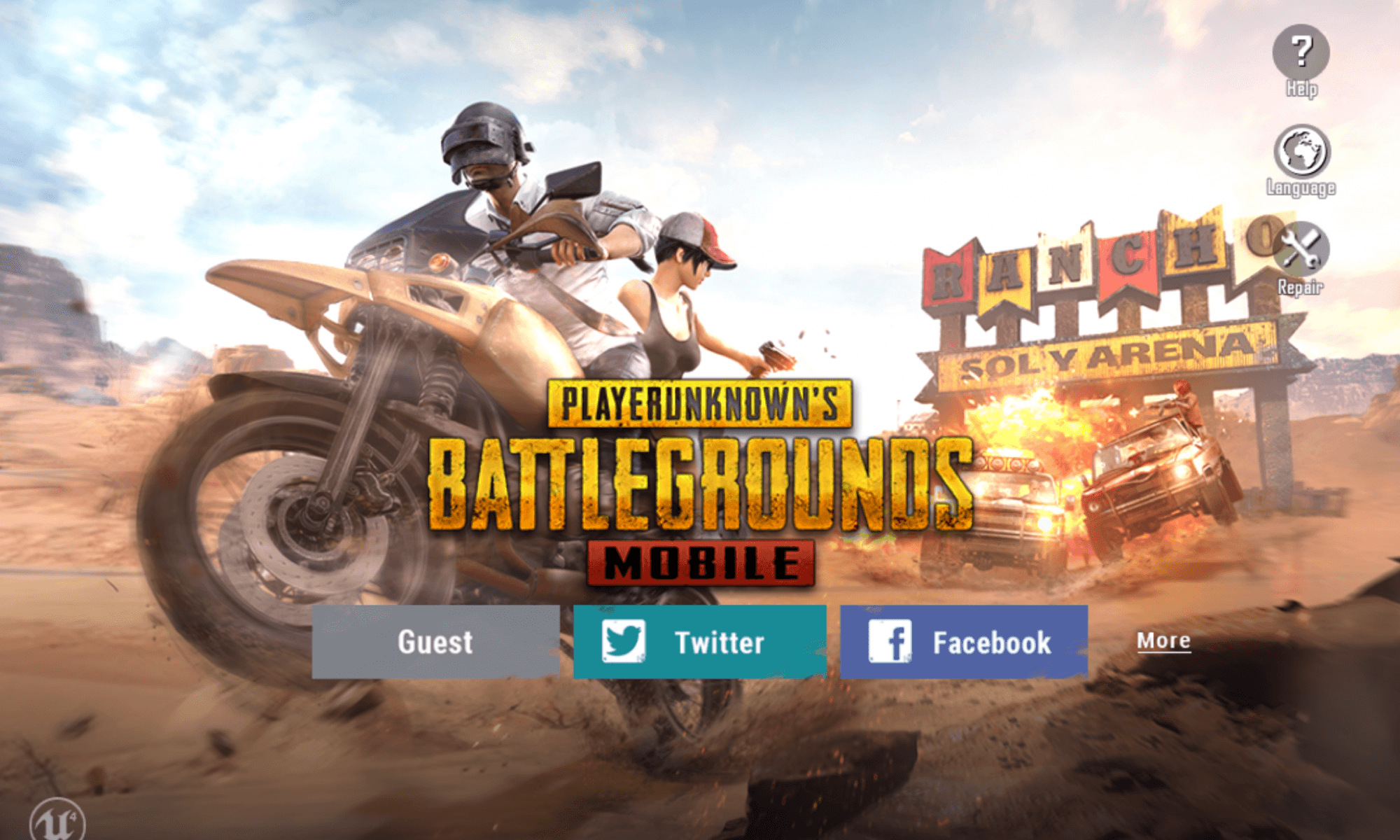 PUBG Mobile on a Google Pixelbook