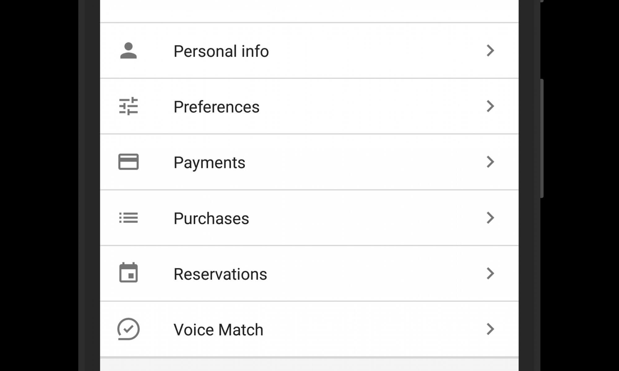 Purchases and Reservations in Google Assistant