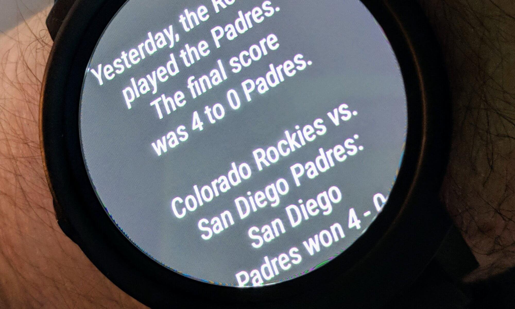 Sports Scores on Wear OS