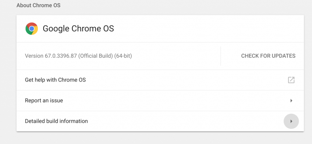Chrome OS Build Page