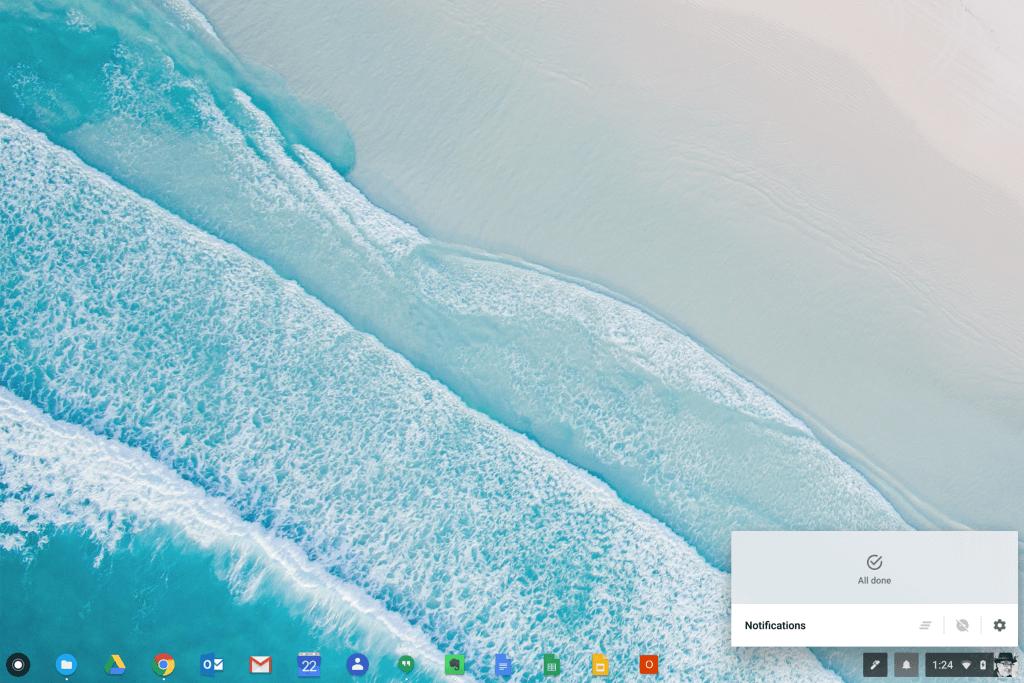 Chrome OS Notification Area