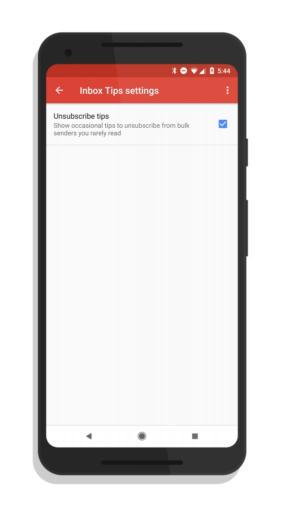 Gmail Unsubscribe Tip Settings