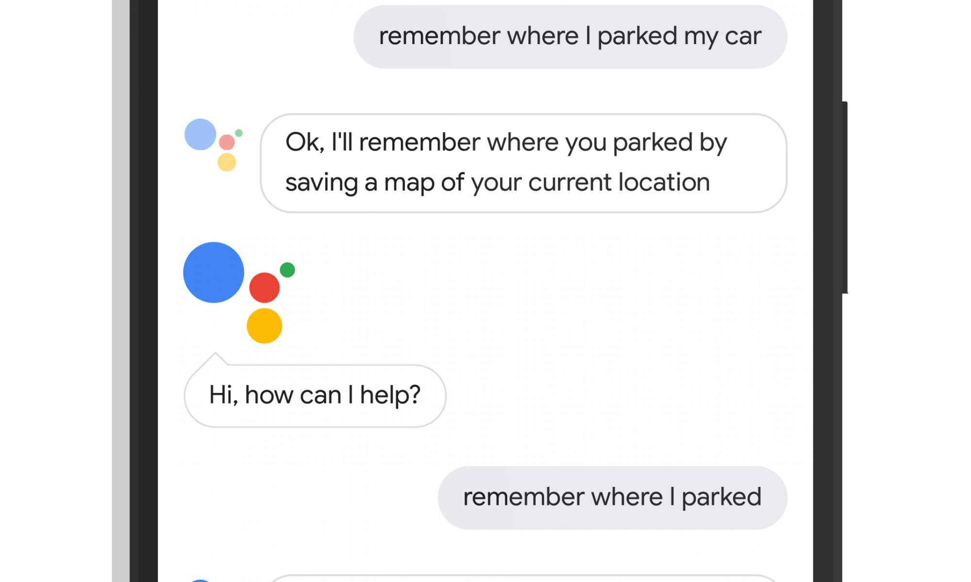 Google Assistant Remembers Where You Parked