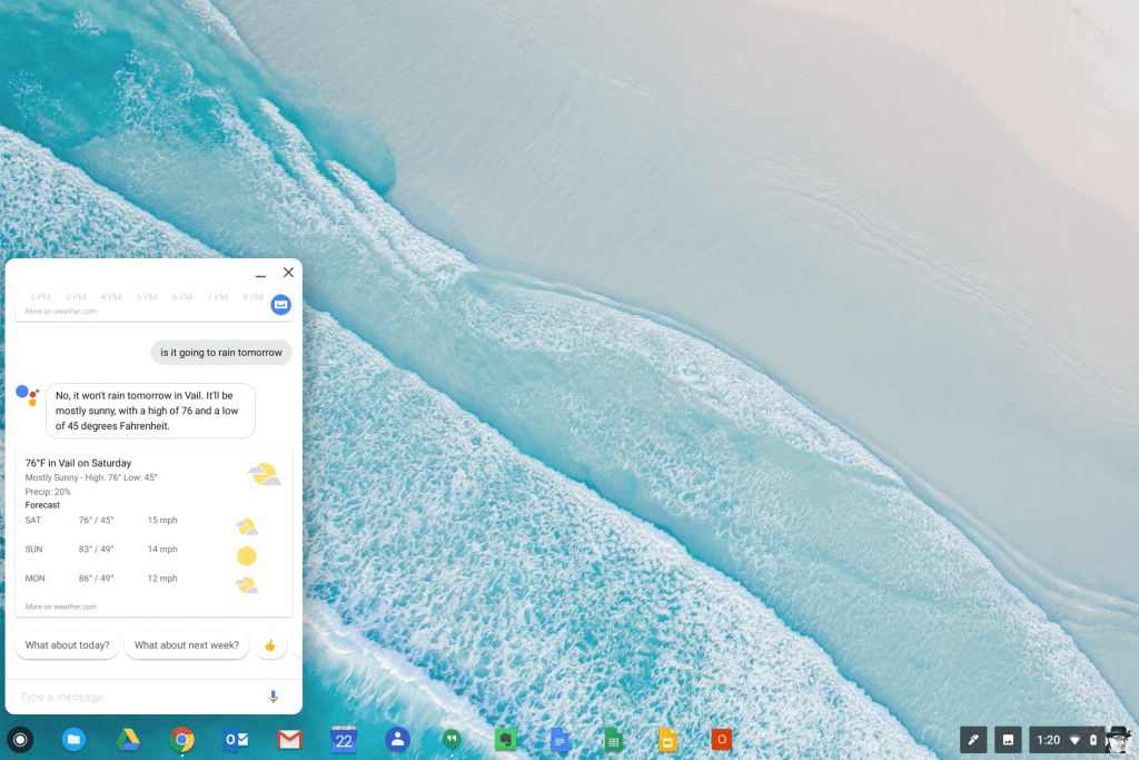 Google Assistant in Chrome OS