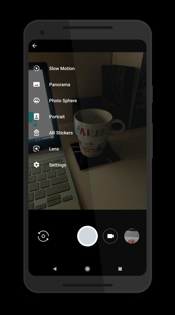 Google Lens Option in Google Camera