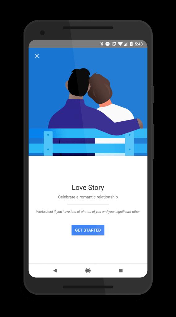 Google Photos Love Story Movie Creator