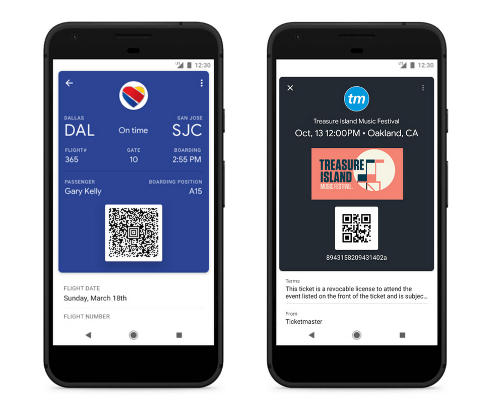 Google Pay Boarding Passes and Event Tickets