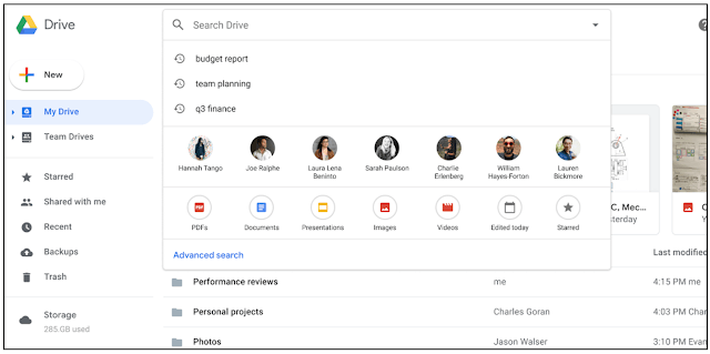 Google Drive Intelligent Search