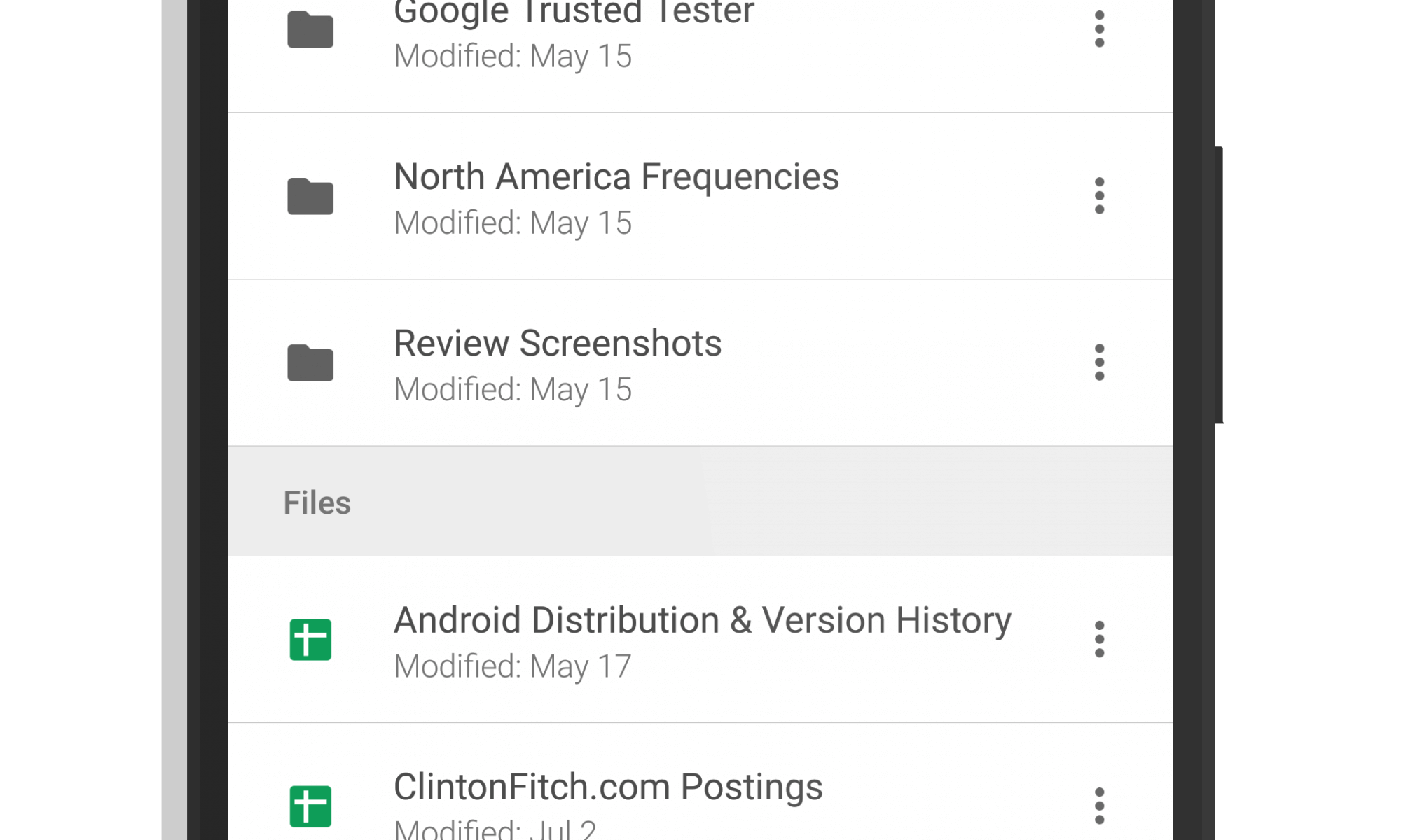 Google Drive for Android - July 2018