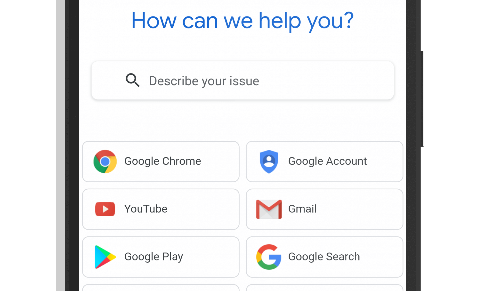 Google Support Site - July 2018