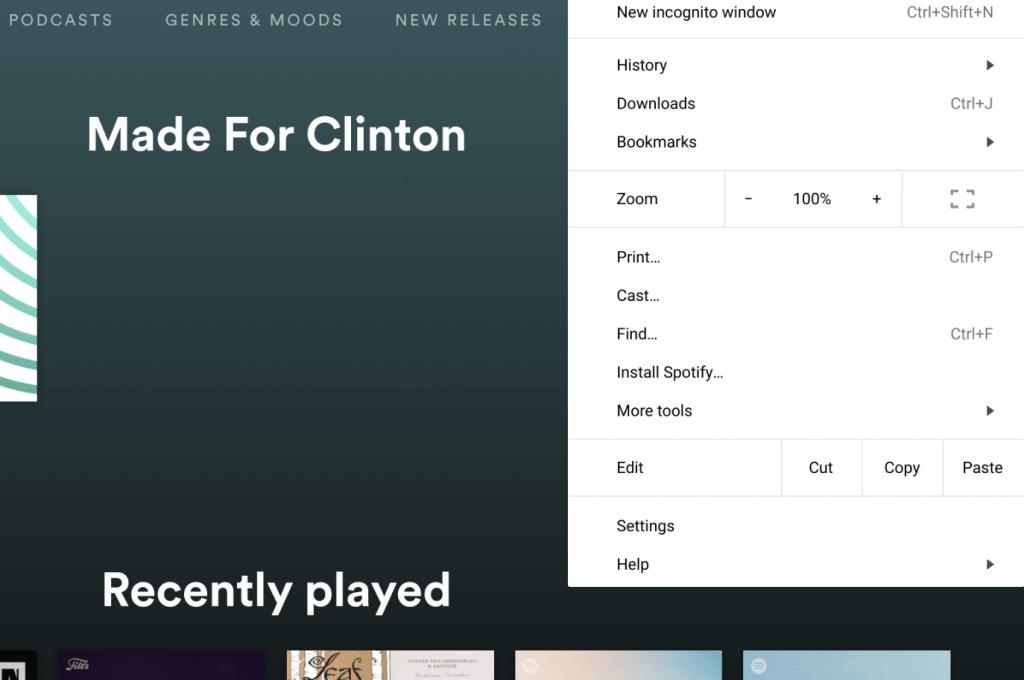Installing the Spotify Progressive Web App