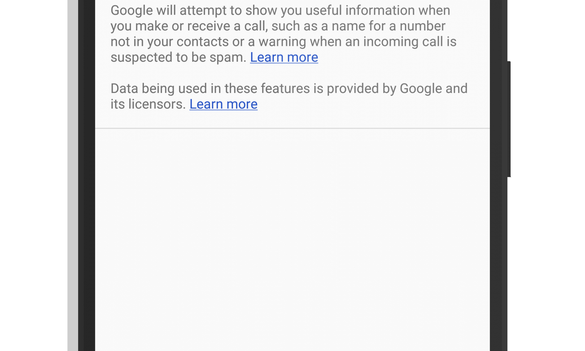 Spam Call Filtering to Voicemail in Google Phone