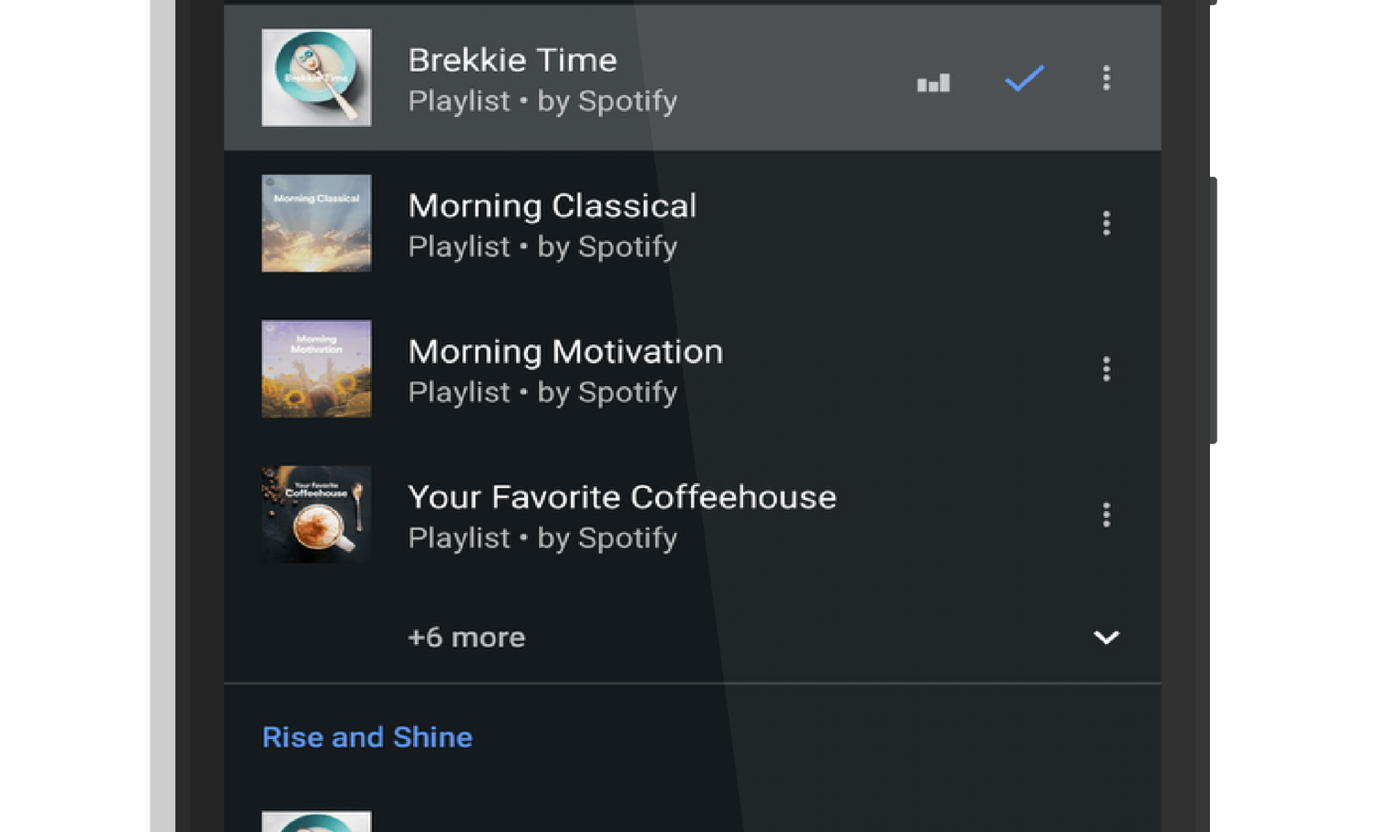 Spotify Integration with Google Clock
