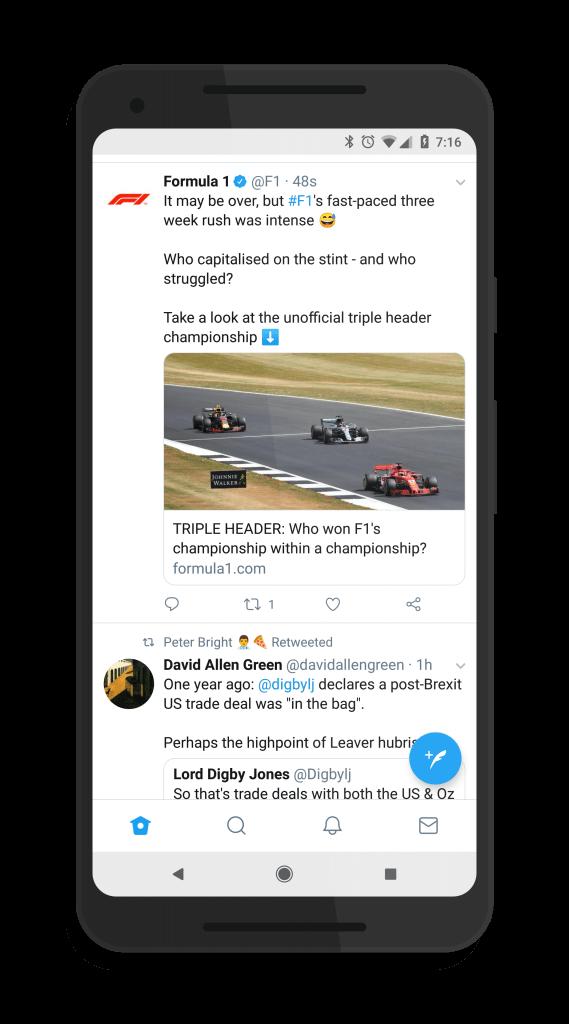 Twitter Bottom Navigation