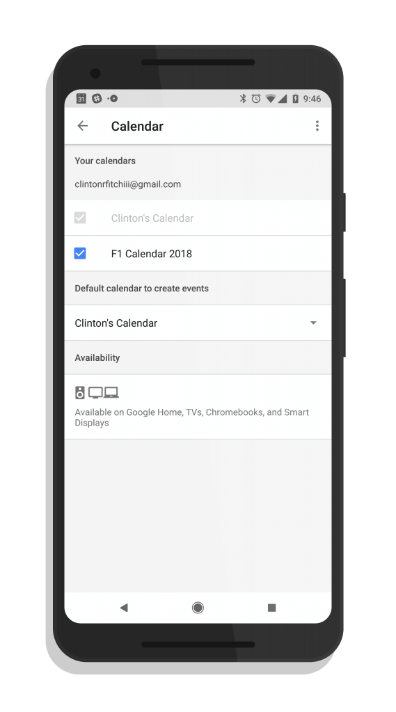 iCal Support in Google Home