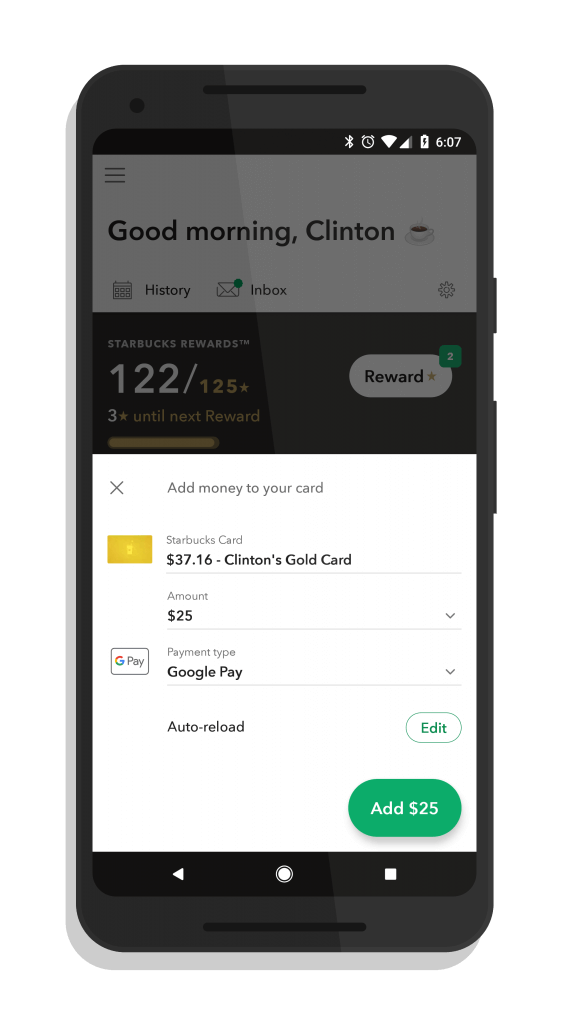 Add Funds to Your Starbucks Card From Google Pay